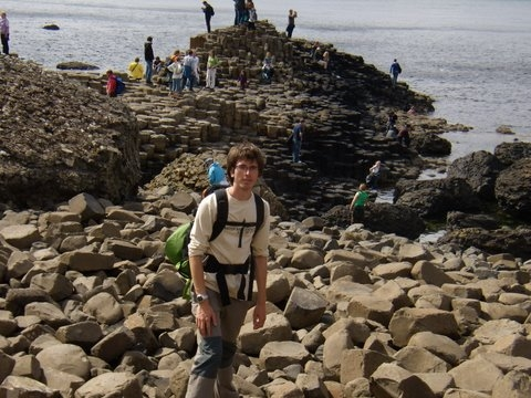 Jordi on the stones at Giant's Causeway, Co.Antrim