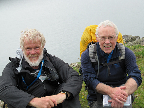 Christopher Somerville and myself on Rathlin Island