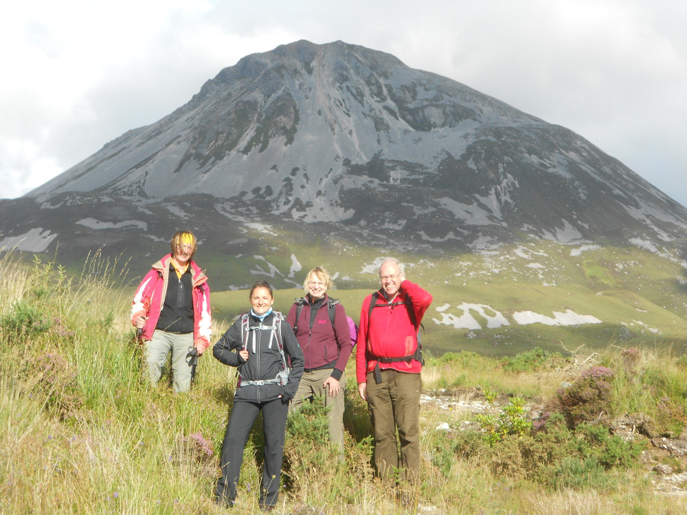 Mount Errigal and WalkTalk walkers