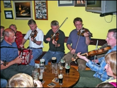 Music session at Biddy's, Glencolmcille, County Donegal