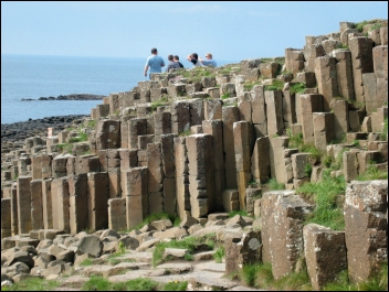 Stone formations at the Giant's Causeway