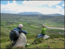 Looking towards Glencolmcille and Slieve League