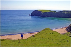 Silver Strand, Malinbeg, at the end of the Slieve League walk