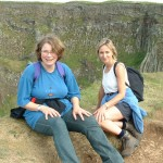 Birgit and Louise above the Organ at Giant's Causeway