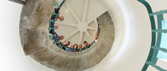 Fanad Lighthouse spiral staircase