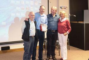 Garbhan Holding Ralph's book with Gudrun, Ralph and myself