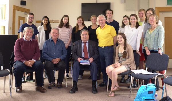 Jim Sharkey, Ralph, John Hume, Gudrun, myself and students from Temple University