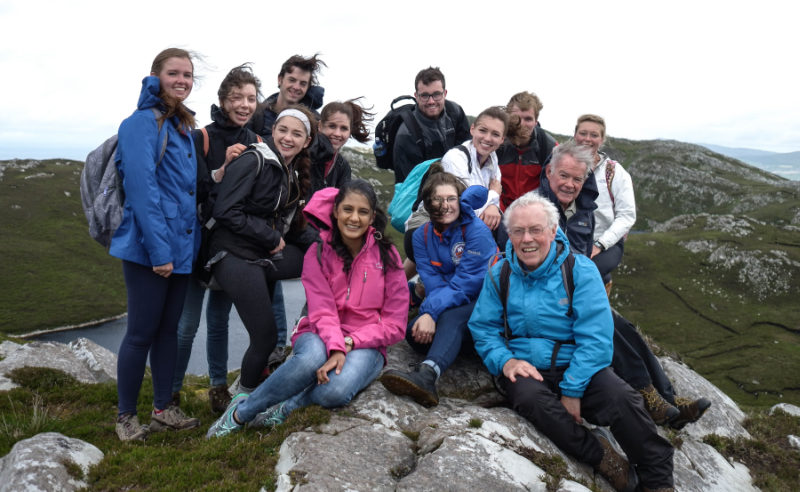 Temple students on Knockalla